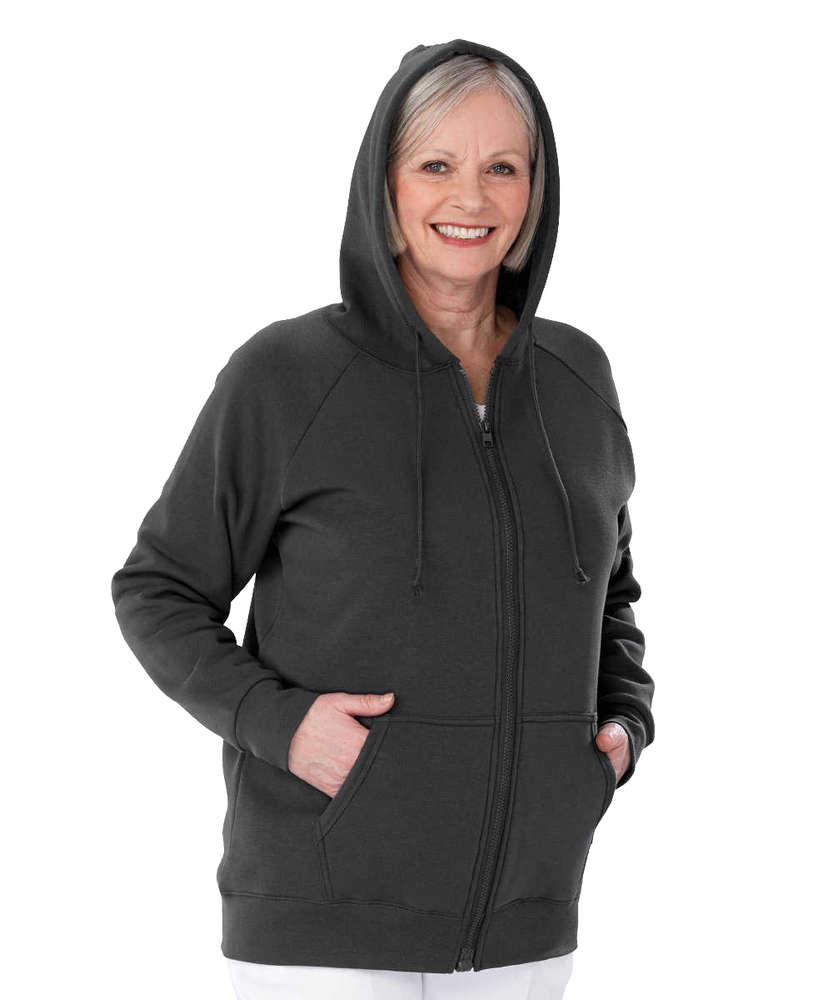 *NoraT* Magnet Reissverschluss Hoodie Damen Sweater Jacke S - 3XL
