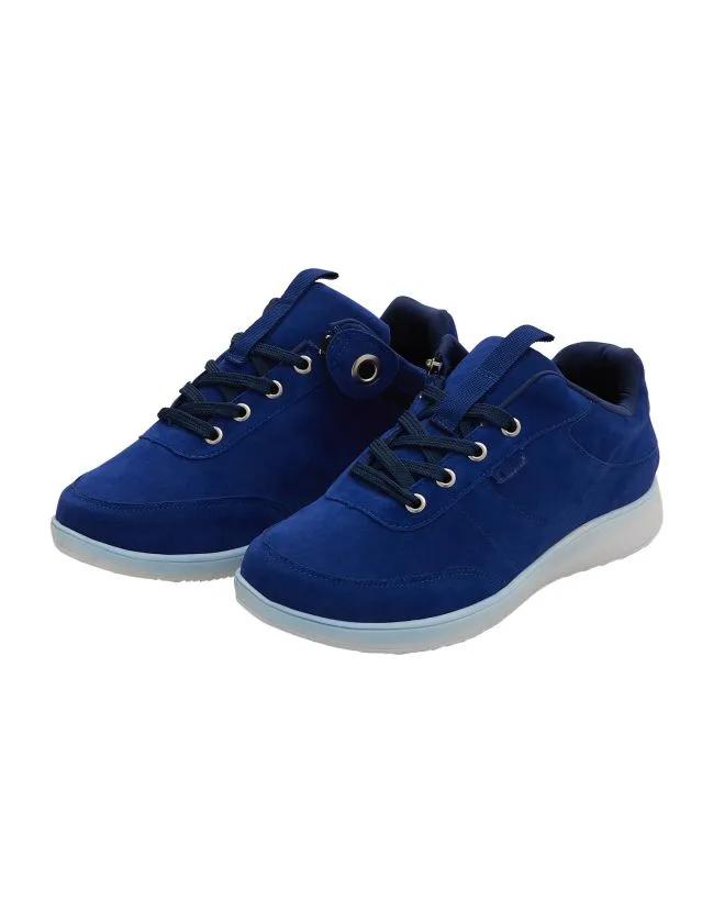 *SneakerT* extra weite Damen Reißverschluss Sneaker Schuhe